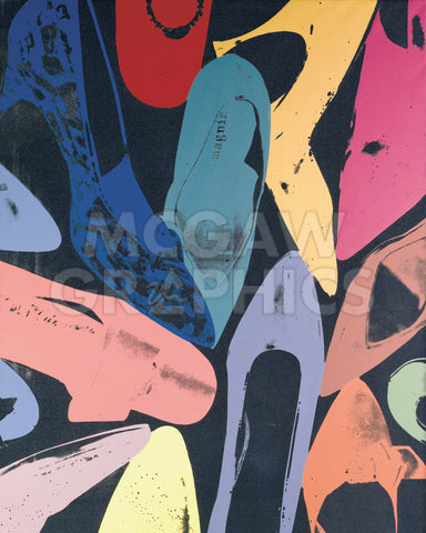 Diamond Dust Shoes, 1980 (lilac, blue, green) -  Andy Warhol - McGaw Graphics