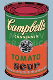 Andy Warhol - Colored Campbell's Soup Can, 1965 (green & red)