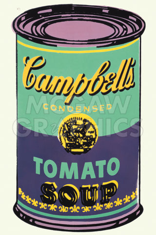 Colored Campbell's Soup Can, 1965 (green & purple) -  Andy Warhol - McGaw Graphics