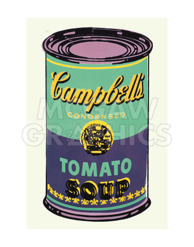 Colored Campbell's Soup Can, 1965 (green & purple)