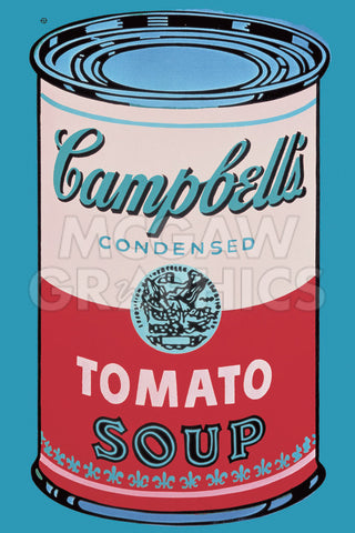 Colored Campbell's Soup Can, 1965 (pink & red) -  Andy Warhol - McGaw Graphics