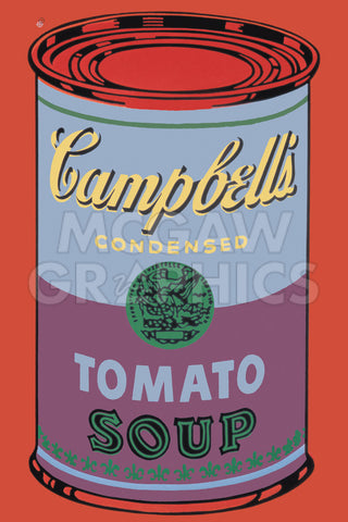 Colored Campbell's Soup Can, 1965 (blue & purple) -  Andy Warhol - McGaw Graphics