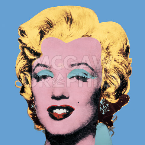 Andy Warhol - Shot Light Blue Marilyn, 1964