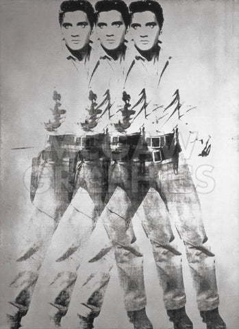 Triple Elvis®, 1963 -  Andy Warhol - McGaw Graphics