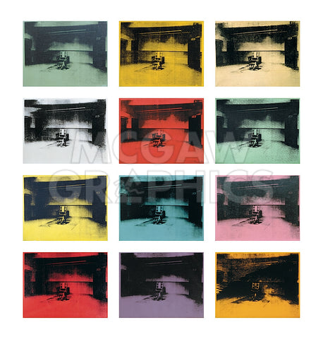 Twelve Electric Chairs, 1964/65 -  Andy Warhol - McGaw Graphics