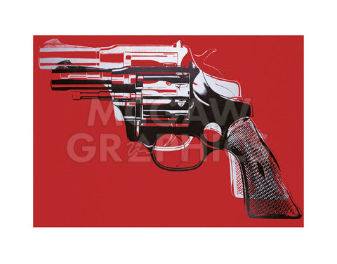 Guns, c. 1981-82 (white and black on red)