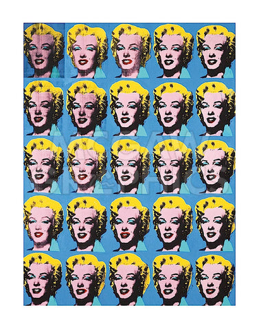 Twenty-Five Colored Marilyns, 1962