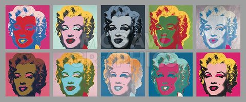 Ten Marilyns, 1967 -  Andy Warhol - McGaw Graphics
