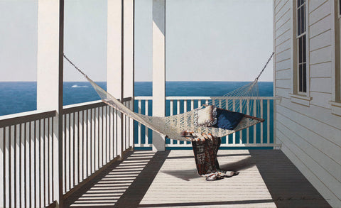 Hammock with Beach Towel -  Zhen-Huan Lu - McGaw Graphics