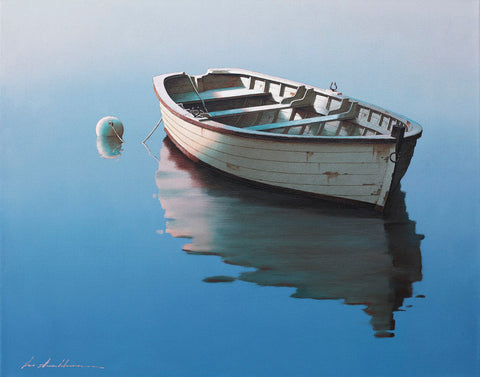 Lonely Boat -  Zhen-Huan Lu - McGaw Graphics