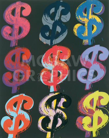 $9, 1982 (on black)-Andy Warhol-McGaw Graphics