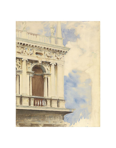 A Corner of the Library in Venice, 1904/07-John Singer Sargent-McGaw Graphics