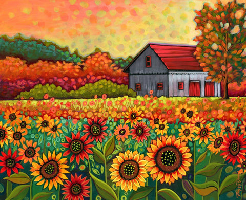 A Bright Sunflower Day-Peggy Davis-McGaw Graphics