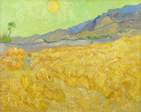 Wheatfield with a Reaper, 1889 -  Vincent van Gogh - McGaw Graphics