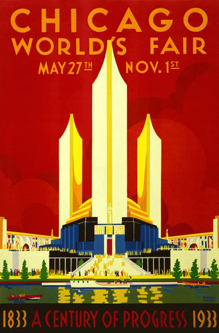 1933 Chicago World's Fair-Vintage Poster-McGaw Graphics