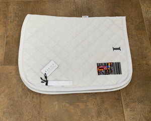 OCT White Saddle Pad