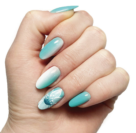 Nail art floreali in One Stroke, gel color e aquagel color
