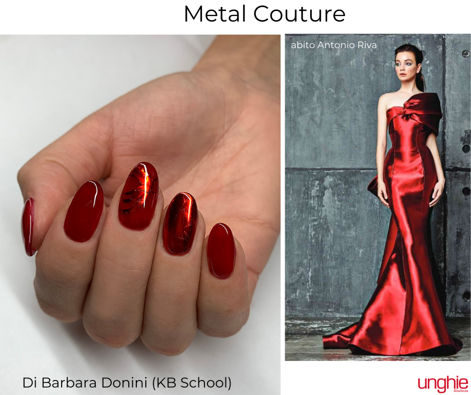 metal couture barbara donini red metale