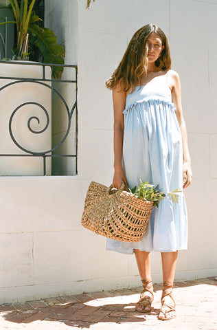 Bonnie Midi Dress - Powder Blue
