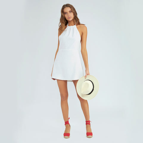 Lily Halter Dress - Pure White