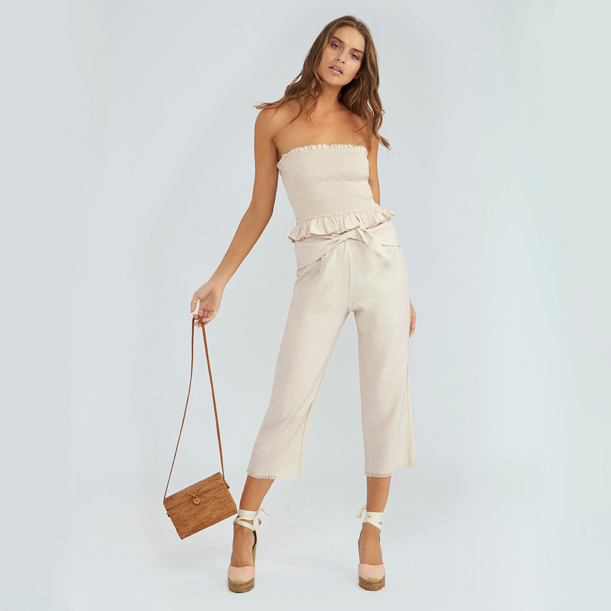 Charlie Linen Pant - Champagne