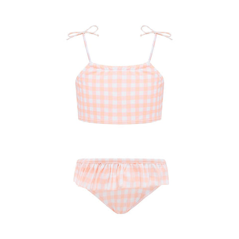 Banjo Bikini Set - Blush Gingham