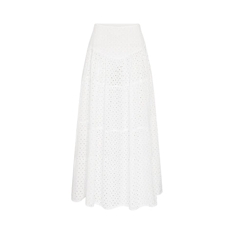 Cali Tiered Skirt - Blanc // Broderie Anglaise