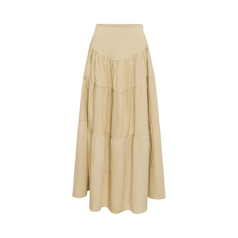 Cali Tiered Skirt - Oat