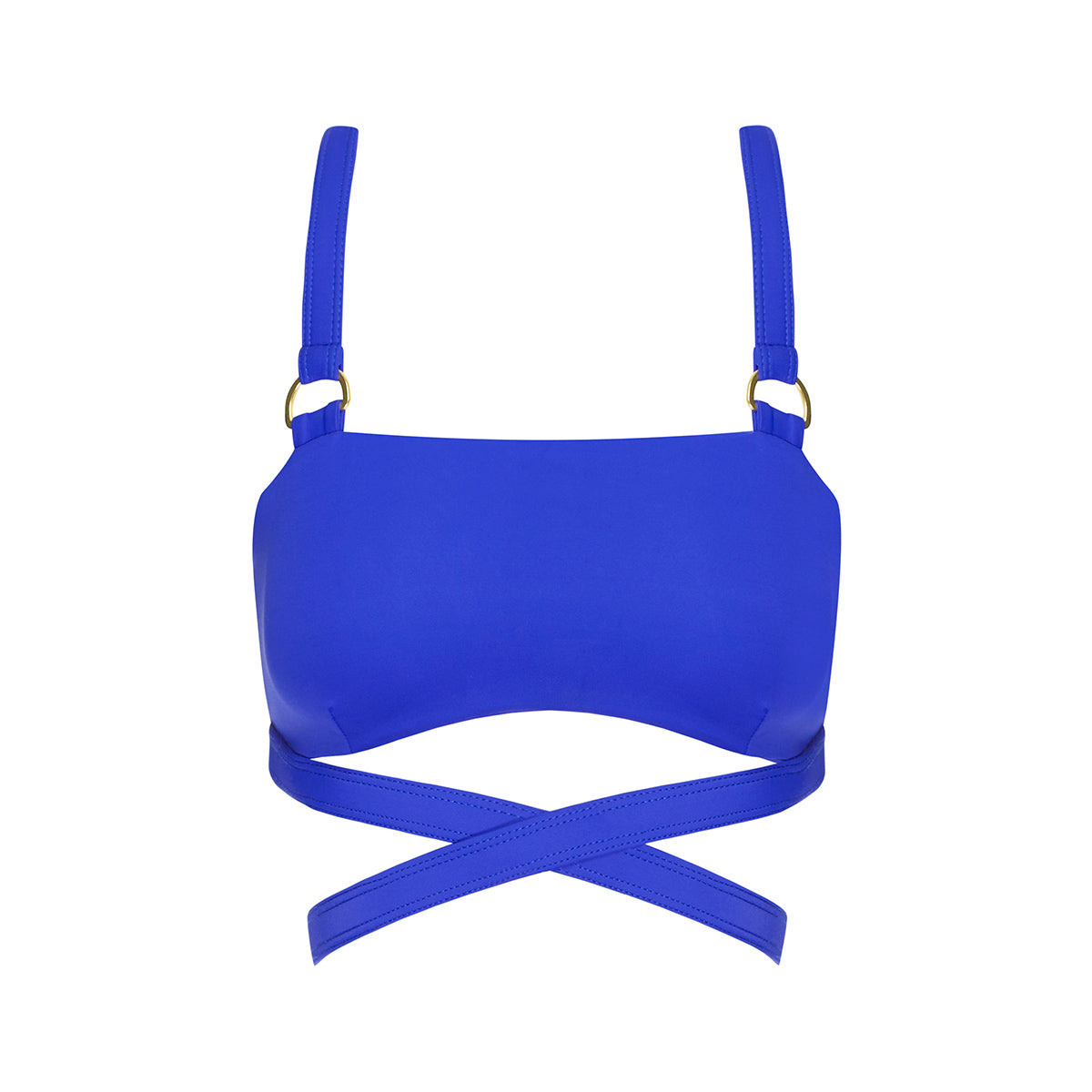 Frankie Tie Down Crop - Cobalt Blue