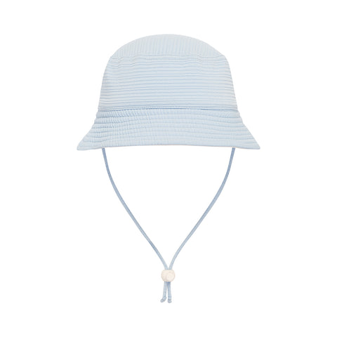 Kids Beach Hat - Textured Powder Blue