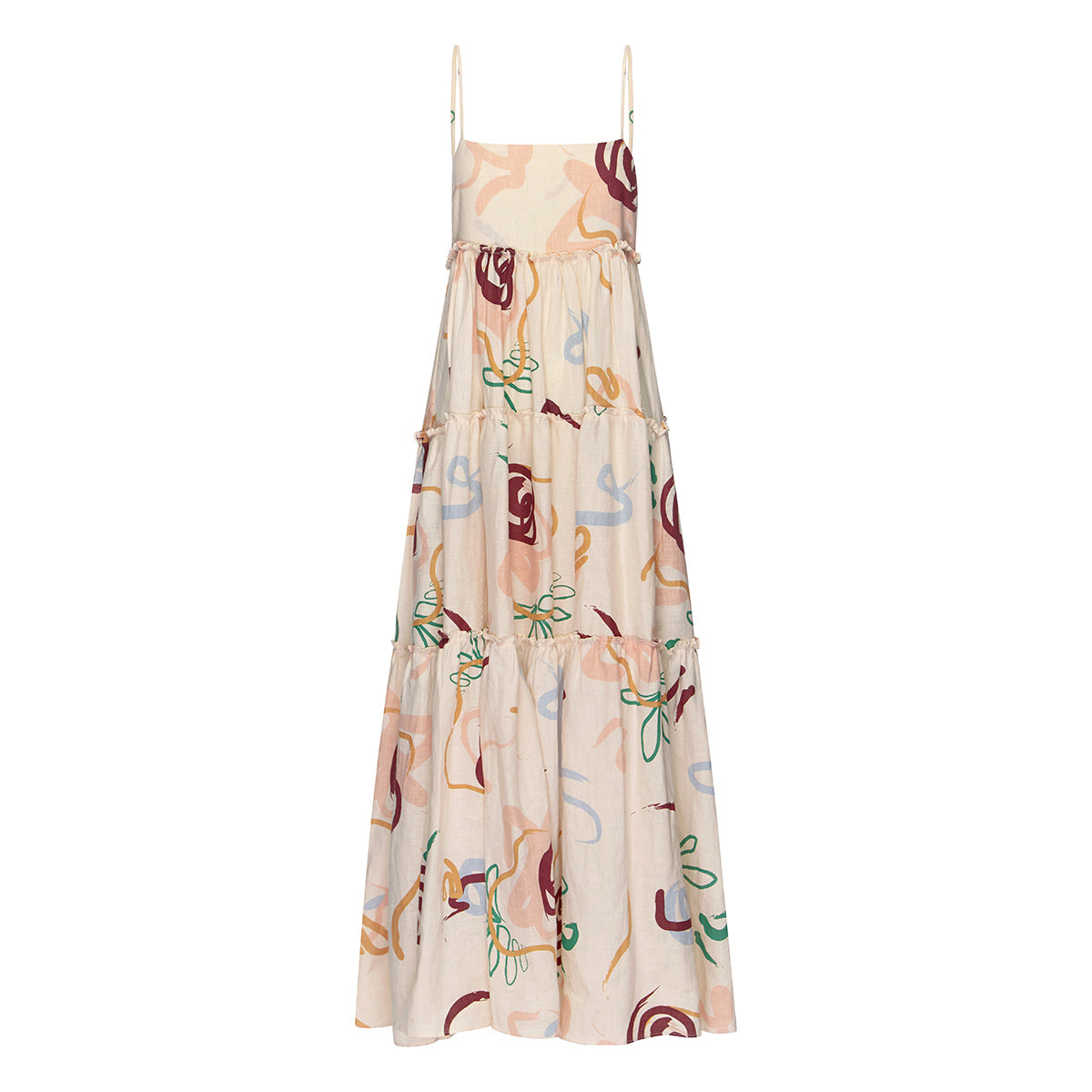 Lottie Tiered Maxi Dress - La Rose