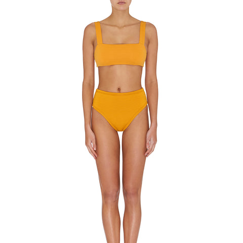 Henley Crop - Textured Amber