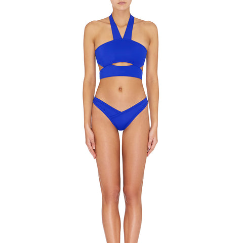 Oriana Cut Out Halter - Cobalt Blue