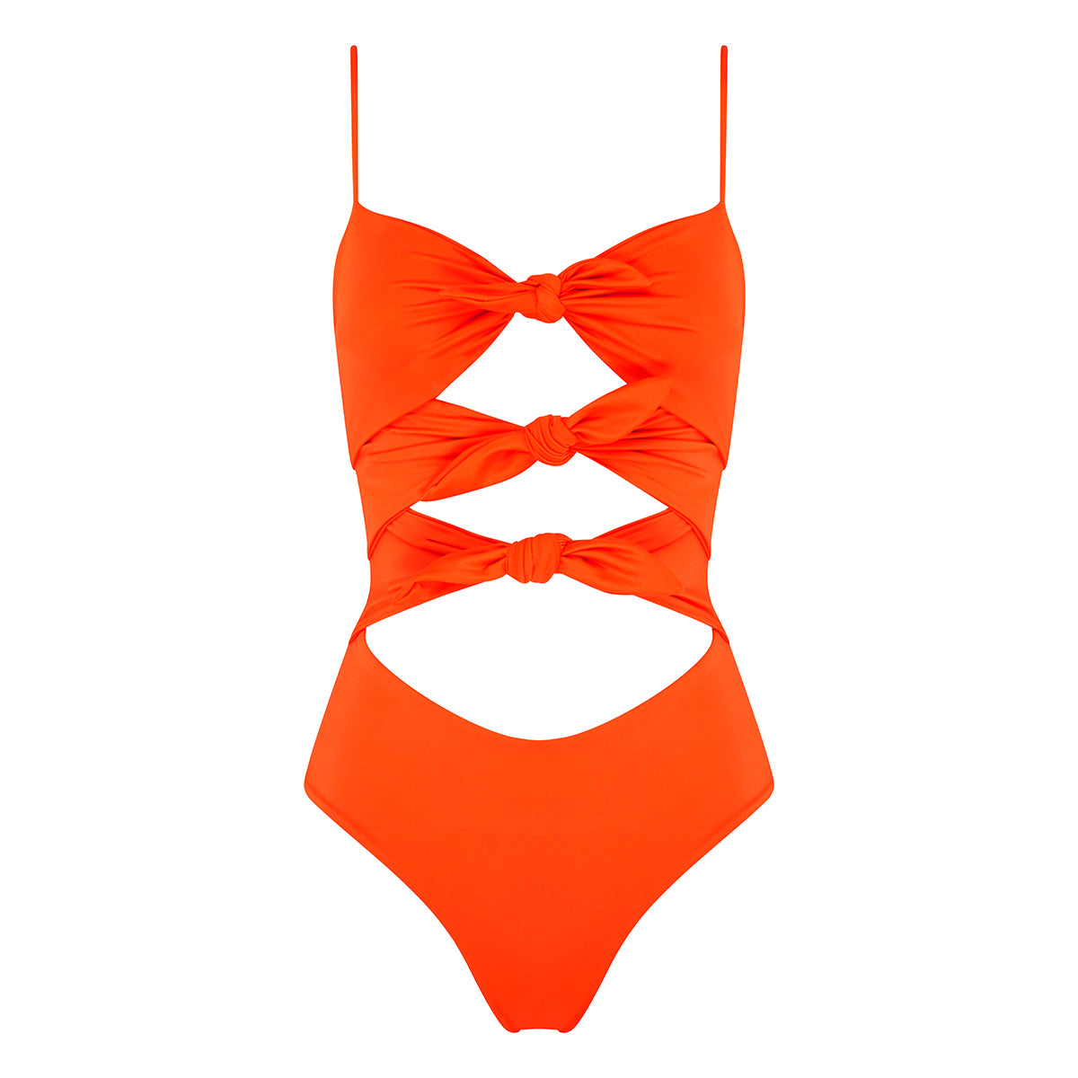 Alix Tie Down Full Piece - Papaya