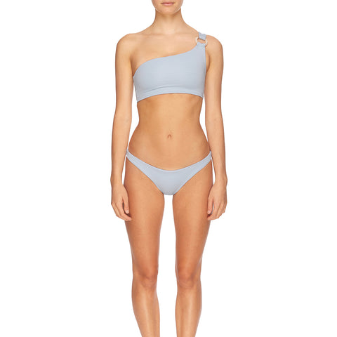 Winnie Asymmetrical Crop - Powder Blue