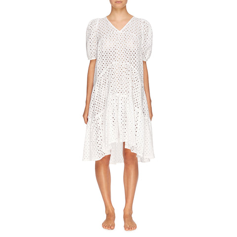 Matteo Tiered Midi Dress - Blanc // Broderie Anglaise
