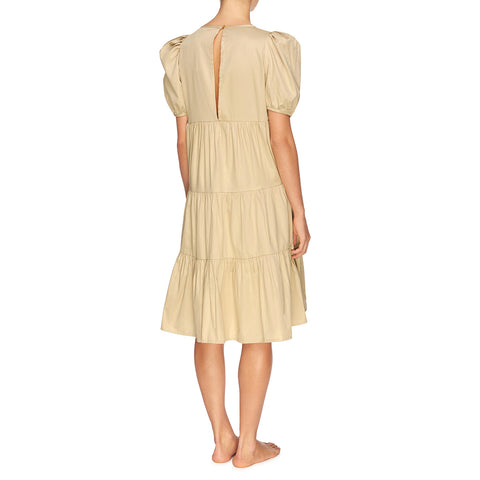 Matteo Tiered Midi Dress - Oat