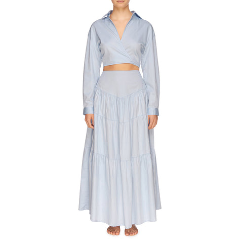 Cali Tiered Skirt - Powder Blue