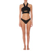 Oriana Cut Out Halter - Textured Noir