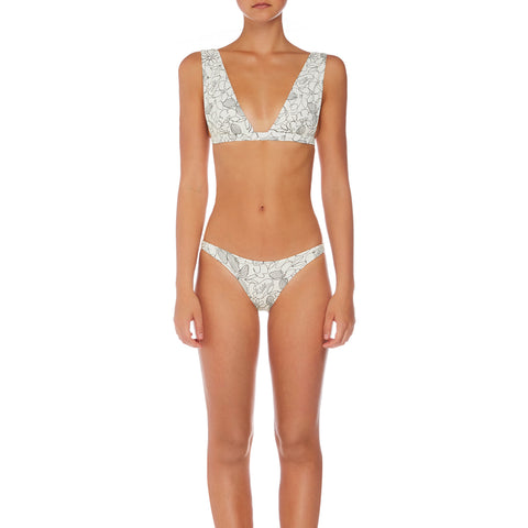 Stella Plunge Bralette - Linear Bloom