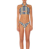 Oriana Cut Out Halter - Airforce Stripe