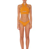 Oriana Cut Out Halter - Textured Amber