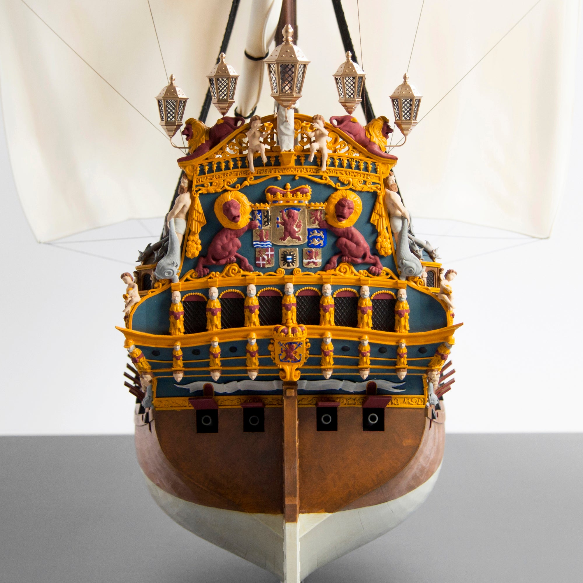 The full detailed stern