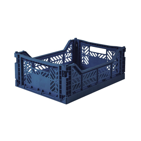 AYKASA Folding Crate midi - navy