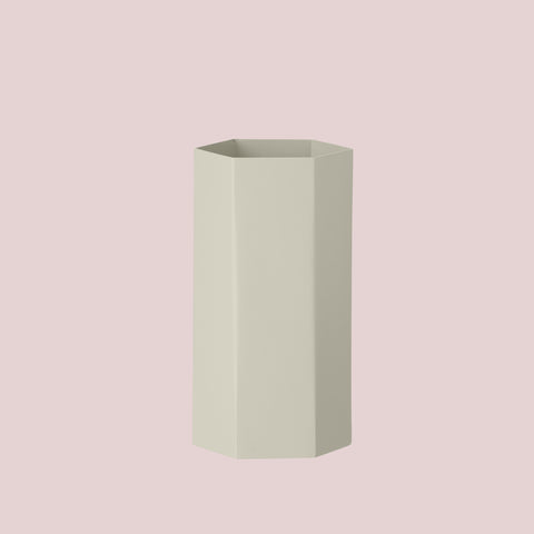 Hexagon Vase grey
