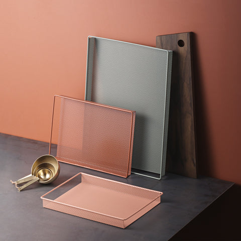 Metal Tray Small ochre