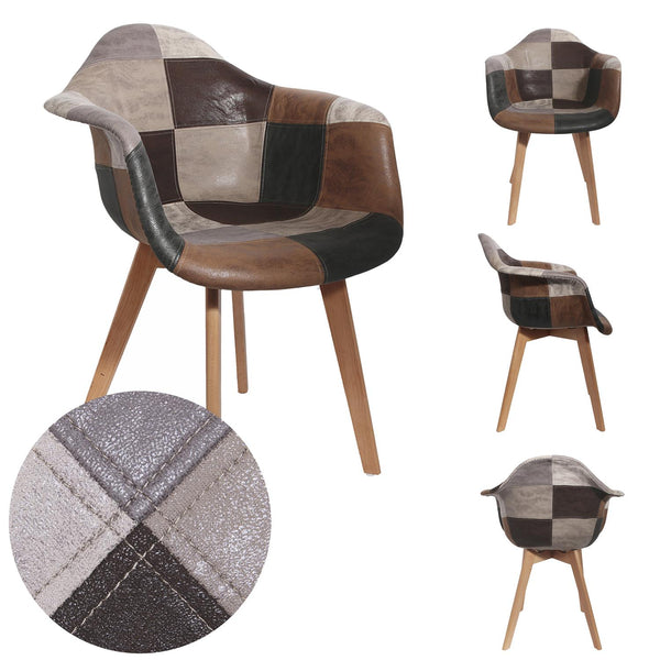 FAUTEUIL PATCHWORK PU