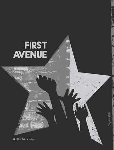 First Avenue Commemoration Print
