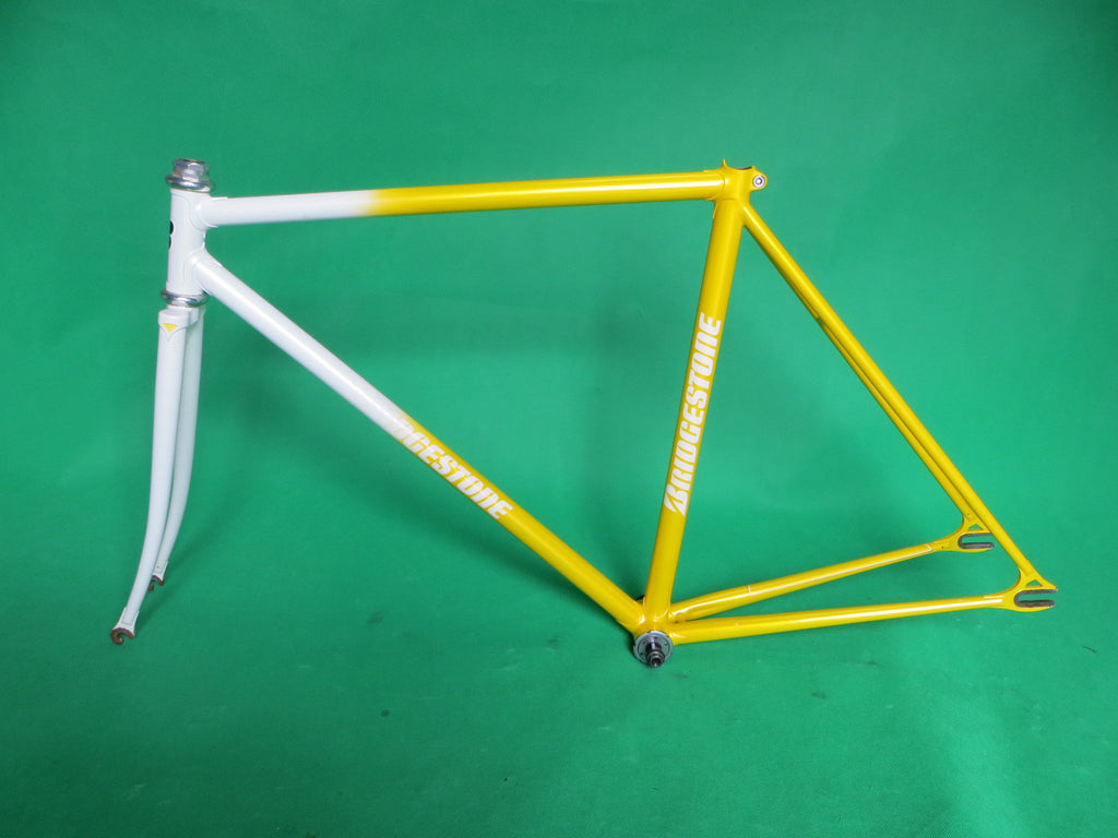 BRIDGESTONE // yellow + white fade // 51cm
