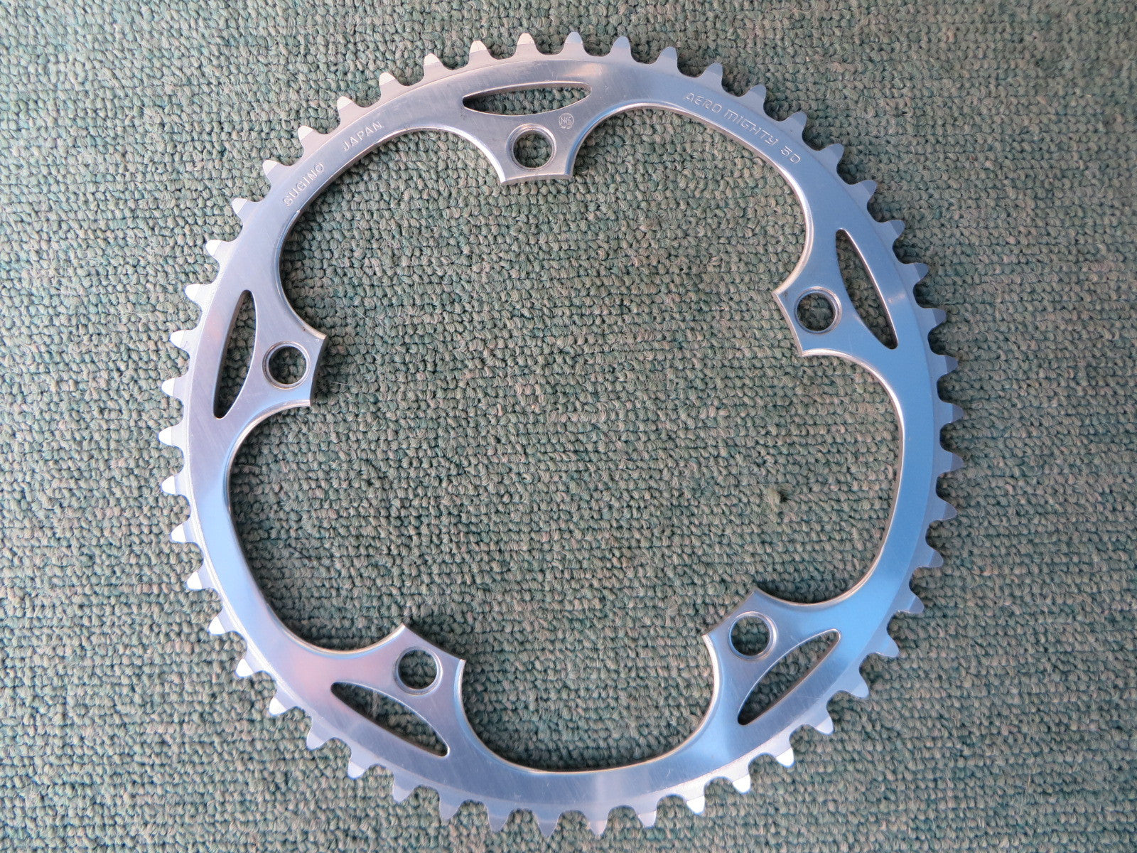 "Sugino Aero Mighty 144BCD 1/8"" NJS Chainring 50T (14102530)"